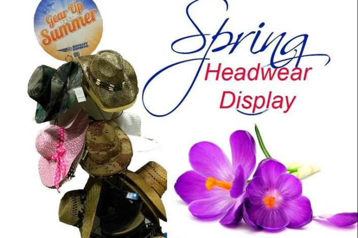 Flower headwear display for Novelty Express